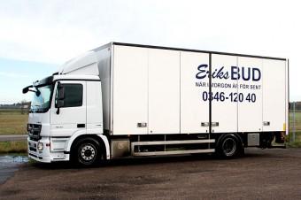 Mercedes-Benz lastbil - Eriks Bud i Falkenberg och Varberg